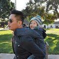 Làng sao - Bé Bảo Nam hạnh phúc bên cha dượng