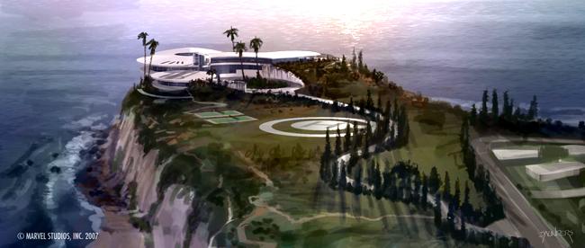 Nói đến những ngôi nhà đẹp và ấn tượng trong các phim điện ảnh, thật khó có thể bỏ qua nhà của nhân vật Tony Shark trong loạt phim Iron Man. Tọa lạc ở vị trí rất đặc biệt là trên mỏm núi nhìn ra biển xanh bao la, bên dưới là vực sâu thăm thẳm.
