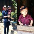 Làng sao - Jacky Minh Trí ngoan ngoãn tại chùa ở Hà Nội