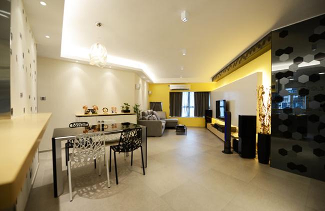 Ngay từ giây đầu tiên khi bước vào căn hộ này, người ta đã cảm thấy ấn tượng trước một không gian hiện đại và trẻ trung.