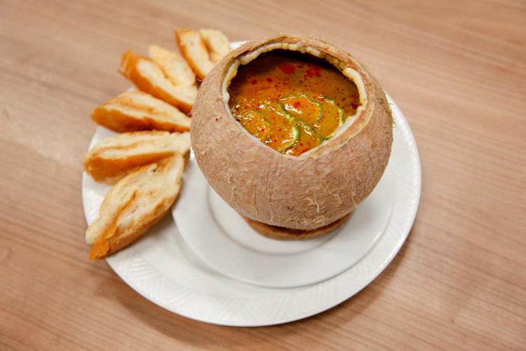 Món Amoc của Thái Lan. Hương vị cay nồng của Thái được thể hiện trọn vẹn trong món ăn này.