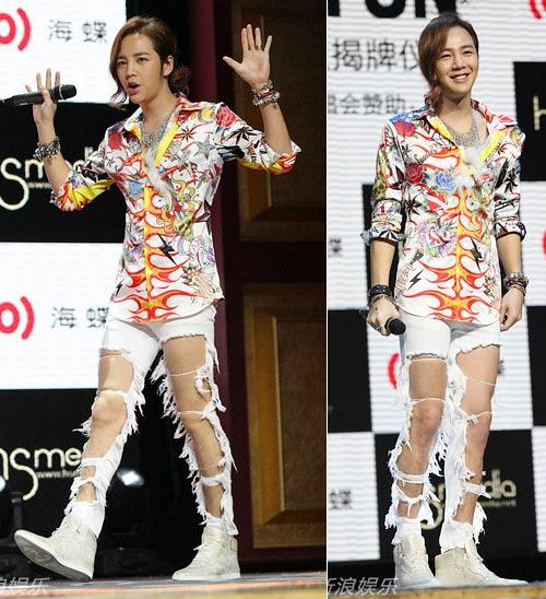 Jang Geun Suk mặc quần rách tả tơi - 5