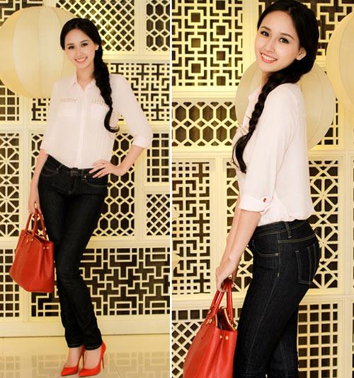 mai phuong thuy 'mat diem' vi jeans - 3