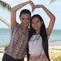 Làng sao - Trang Nhung, Tam Triều Dâng nhí nhảnh ngoài biển