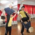 Làng sao - Hồ Vĩnh Khoa ra sức tập bế bạn nhảy