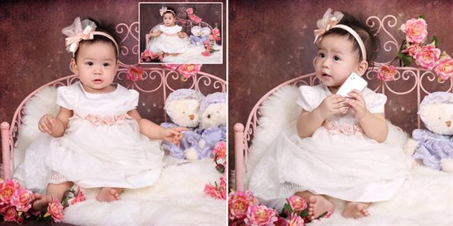 Cô bé xinh thật xinh trong hình có tên hơi giống con trai chút xíu, đó là Triệu Lê Ngọc Linh.