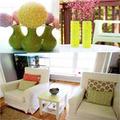 """Nhà đẹp - Sửa bàn, làm hoa """"dụ"""" hè vào phòng khách"""