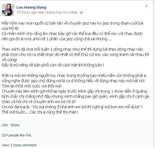 """luu huong giang ke lai """"chuyen xua"""" voi my le - 3"""