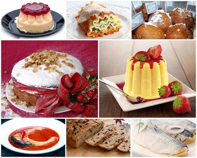 Cứ đến năm mới, người dân mỗi quốc gia có những hoạt động khác nhau để chào đón thời khắc quan trọng này! Trong đó bao gồm cả việc làm các món ăn với ý nghĩa mang lại may mắn, hạnh phúc cho các thành viên trong gia đình. Đó là món bánh Oliebollen (Hà Lan), Bánh barnbrack (Ai Len), Súp cá chép (Hungary), Bánh Vassilopita (Hi Lạp), Lasagna (Ý), Cá tuyết hấp (Đan Mạch), Pudding (Nauy).