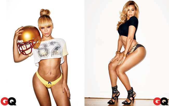 Beyonce được bình chọn là sao nữ gợi cảm nhất, hình thể đồng hồ cát quyến rũ và làn da nâu ngọt ngào của cô hút hồn phái mạnh.