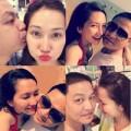 Làng sao - Kim Hiền hạnh phúc hôn chồng sắp cưới