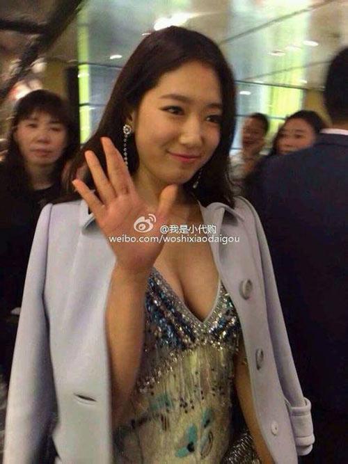 "park shin hye bat ngo khoe vong 1 ""khung"" - 2"