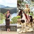 Làng sao - Quý bà Kim Hồng trẻ trung cưỡi ngựa