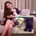 Làng sao - Hà Tăng khoe ảnh thân thiết bên cún cưng