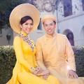 Làng sao - Ngọc Quyên tung ảnh cưới với áo dài truyền thống