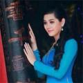 Làng sao - Lâm Chi Khanh đẹp dịu dàng với áo dài