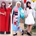 Thời trang - Thiếu nữ đua sắc cùng cánh đào Nhật Tân