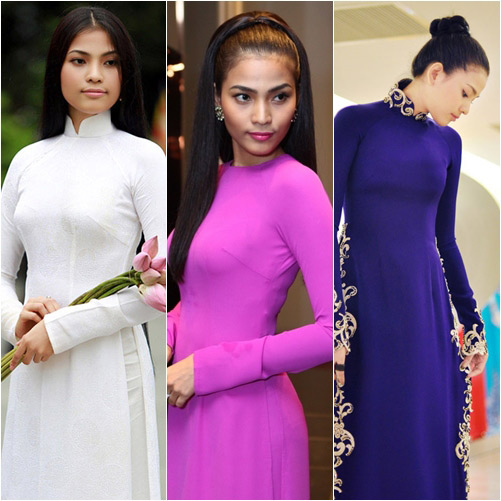 "top 4 my nhan gay ""me hoac"" voi ao dai - 18"