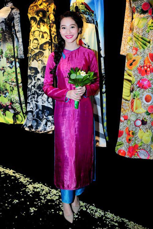 "top 4 my nhan gay ""me hoac"" voi ao dai - 6"