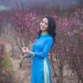 Làng sao - Á hậu Thụy Vân khoe sắc với áo dài đón tết