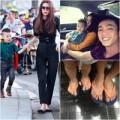 Thời trang - Thời trang du lịch sành điệu của gia đình Hà Hồ