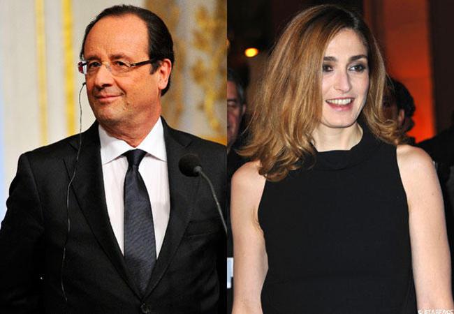 Dù tổng thống Pháp phủ nhận tin đồn ngoại tình với nữ diễn viên Julie, nhưng giới truyền thông vẫn bắt gặp họ nhiều lần tay trong tay.