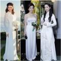 Thời trang - Sao Việt 'biến hóa' muôn kiểu cùng áo dài trắng