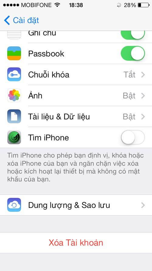 loi tren ios cho phep vo hieu hoa find my iphone khong can mat khau - 4