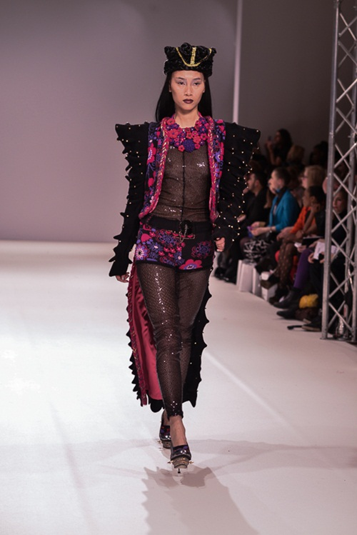 trang khieu dien 3 show tai london fashion week - 2