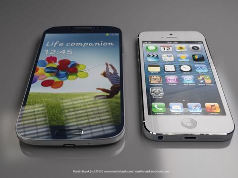 galaxy s4 hien thi noi dung nhieu hon iphone 5s - 1