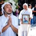 ĐD Quang Dũng thất thần trong đám tang cha