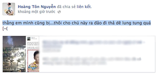 """hoang ton: """"chua bi sam so vi khong phai hotboy"""" - 1"""