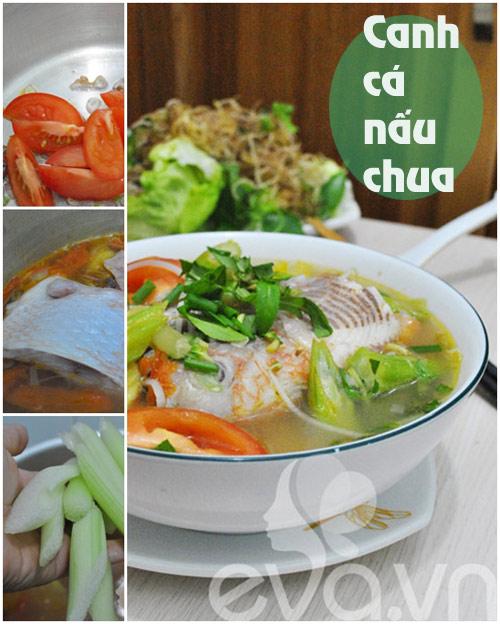 thuc don: thit kho khoai, canh chua ca - 2