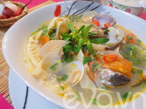 canh ngao nau mang chua nong hoi - 9
