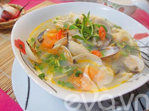 canh ngao nau mang chua nong hoi - 8