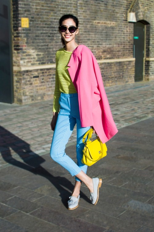 hoang thuy dien colorblock dao choi london - 2