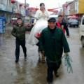 Tin tức - Độc đáo màn rước dâu bằng... trâu ở TQ