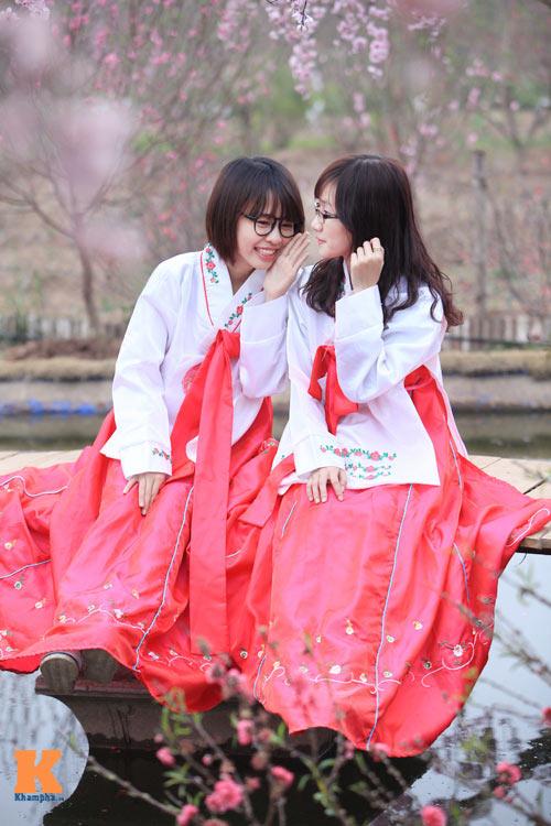 thiéu nũ viẹt xinh tuoi suòn xám, hanbok - 5