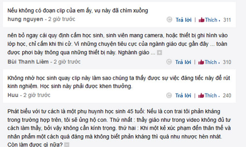 ky luat hoc sinh quay clip: dan mang phan phao - 2