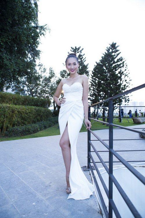 Siêu mẫu Khánh Ngọc sexy với váy xẻ sâu-3