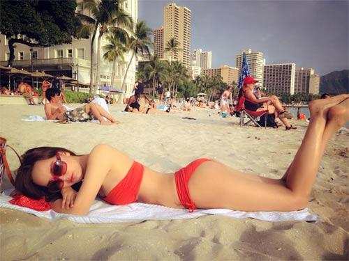 anh bikini cuc hot cua mai phuong thuy o hawaii - 3