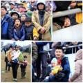 Tin tức - Trẻ đội mưa theo người lớn xem chọi trâu tại HN