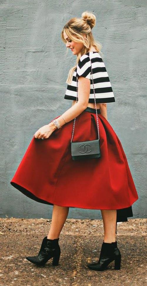 Dạo chợ Hôm: Muôn vải đẹp may váy midi - 16