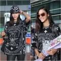 Thời trang - Hoàng Thùy trở về rạng rỡ tại sân bay Tân Sơn Nhất