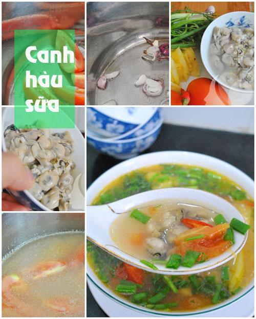thuc don: suon xao chua ngot, canh hau - 2