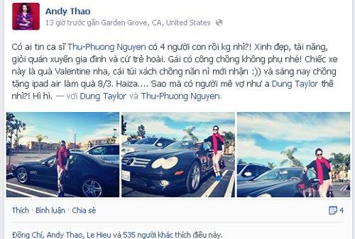 thu phuong duoc chong tang sieu xe bac ty - 3