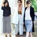 Thời trang - Huyền Trang đón đầu mốt quần lửng ống rộng siêu hot