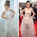 Thời trang - Hot: Bé gái 4 tuổi chế váy hàng hiệu từ giấy!