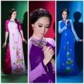 Thời trang - HH Đàm Lưu  Ly duyên dáng áo dài tuổi 40