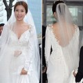 Làng sao - Cô dâu Lee Tae Ran sexy trong váy cưới trắng